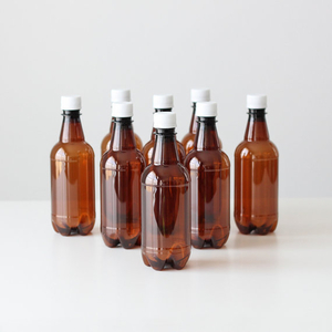 Pet Beer Bottles with Caps